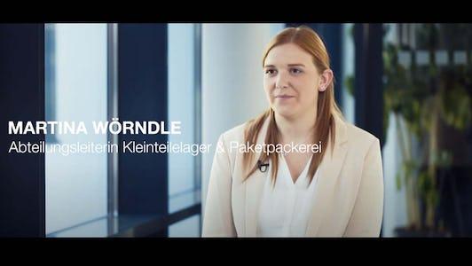 Arbeiten bei Haberkorn - Martina Wörndle: Abteilungsleiterin Kleinteilelager & Paketpackerei